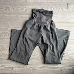 🤰🏼 Long Gray Dress Pant Maternity Trousers